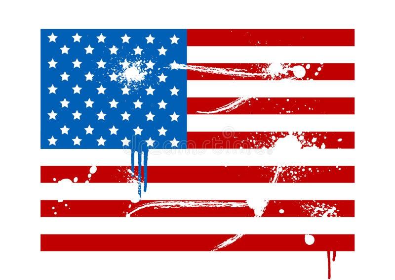 Ilustração de uma bandeira dos EUA do grunge ilustração stock