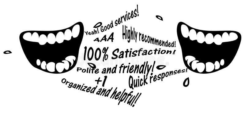 Ilustração de uma comunicação de mercado da passa palavra ilustração royalty free