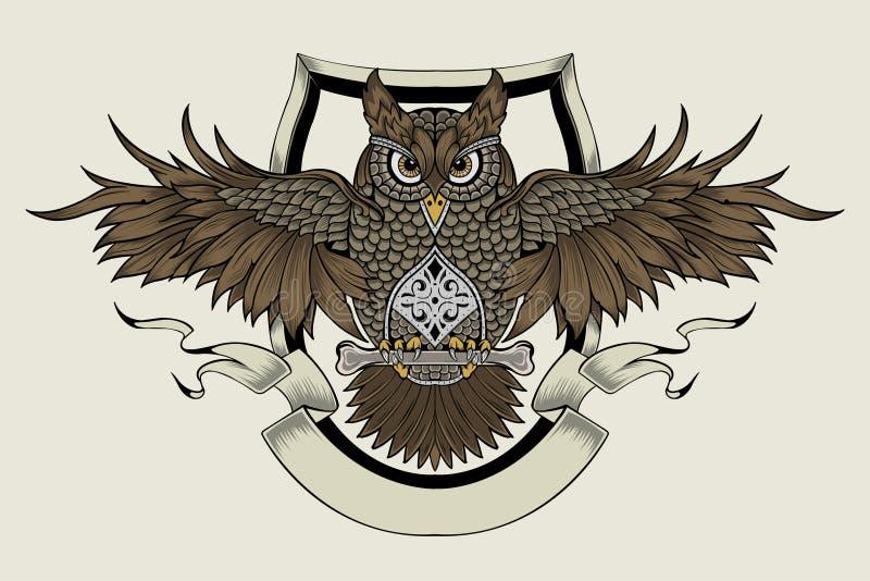 Ilustração de uma coruja ilustração stock