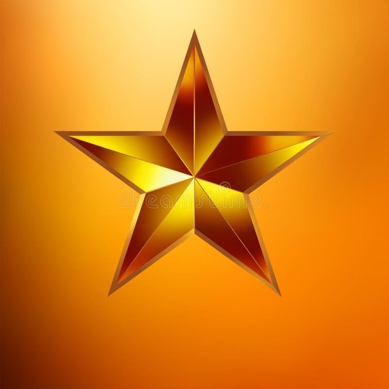 Ilustração de uma estrela do ouro no ouro. EPS 8 ilustração do vetor