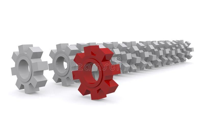 Rodas da roda denteada ilustração stock