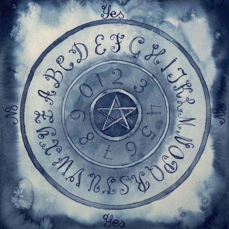 Ilustração de uma placa do pêndulo ilustração royalty free