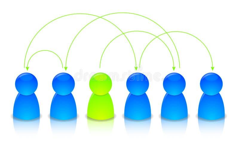 Ilustração de uma rede ilustração stock