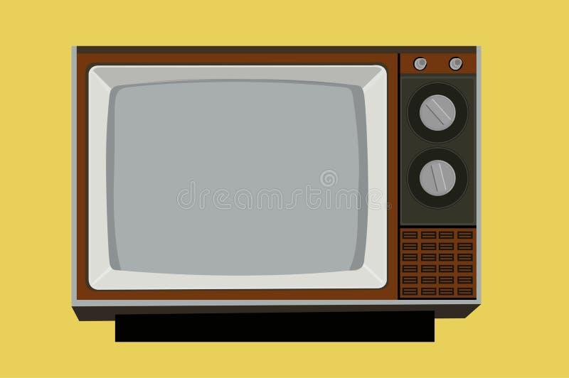Ilustração de uma Televisão Vintage Antiga ilustração do vetor
