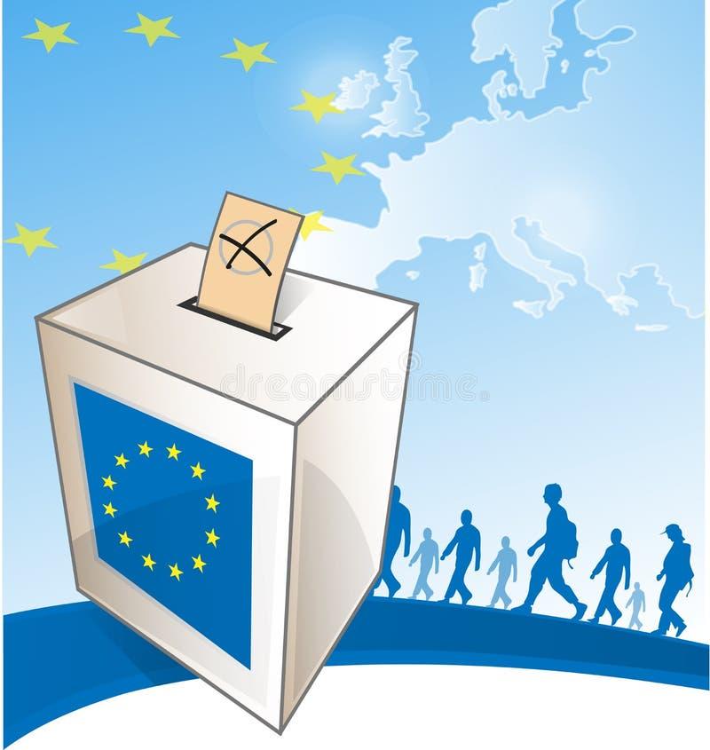 Ilustração de uma urna de voto ilustração royalty free
