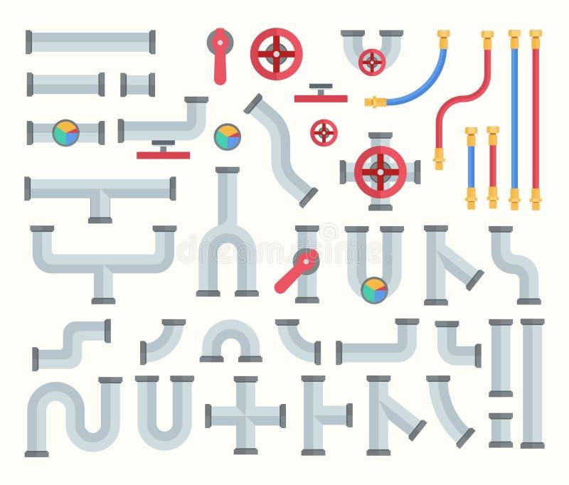 Ilustração de vetor de conjunto de construtores de pipe ilustração royalty free