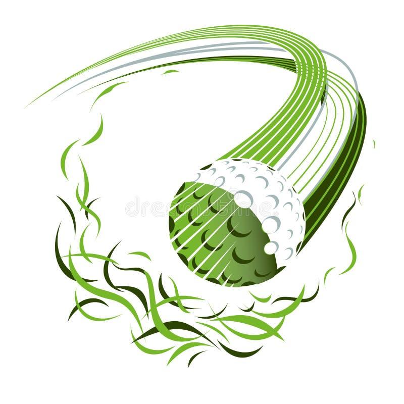 Ilustração de vetor gráfico de bola de golfe ilustração do vetor