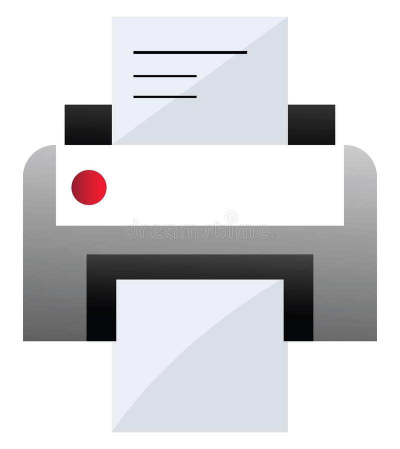 Ilustração de vetor de impressora cinza e branca em um ilustração royalty free