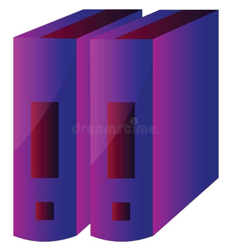 Ilustração de vetor moderno de discos coloridos em um ilustração stock