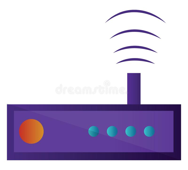 Ilustração de vetor simples de rádio roxo em um ilustração royalty free
