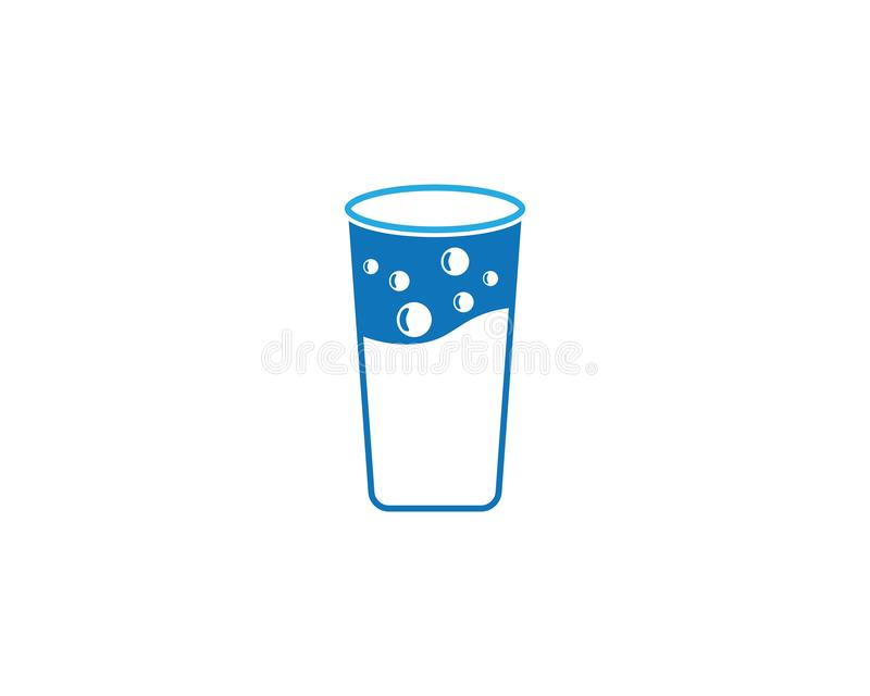 Ilustração de vidro bebendo do vetor ilustração stock