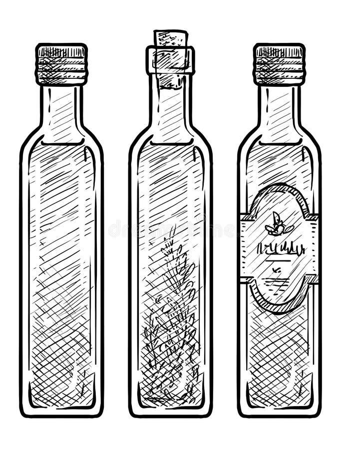 Ilustração de vidro do óleo, desenho, gravura, tinta, linha arte, vetor ilustração do vetor