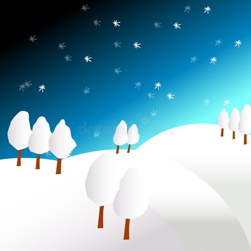 Ilustração de Winterland ilustração stock