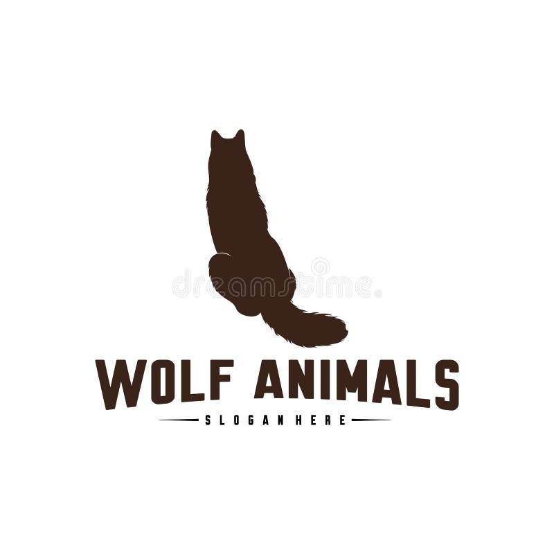 Ilustração de Wolf Abstract Logo Design Vetora Wolf Logo Template Estilo liso simples S?mbolo do ?cone ilustração do vetor