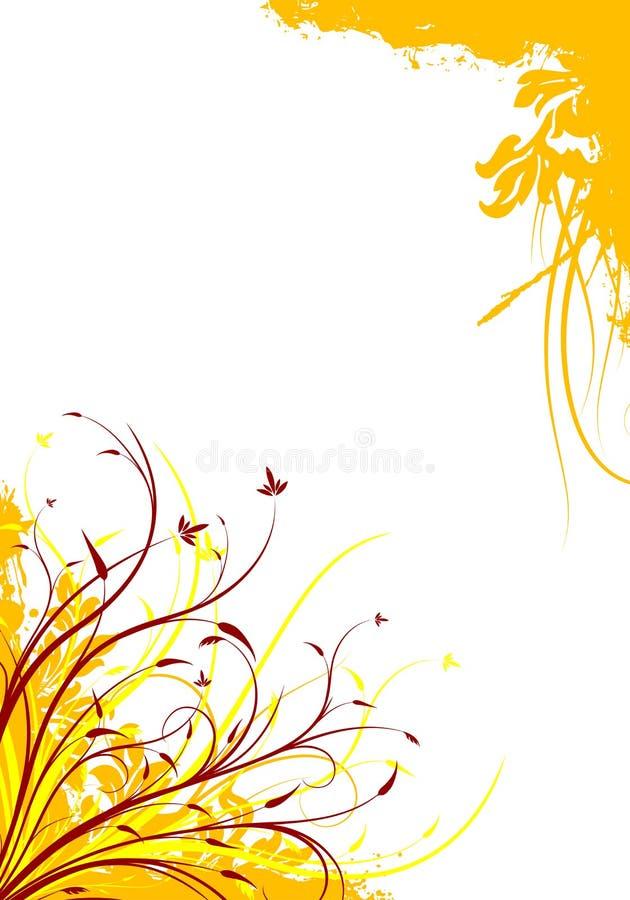 Ilustração decorativa floral do vetor do fundo do grunge abstrato ilustração royalty free