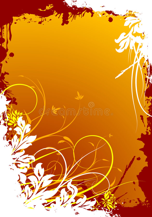 Ilustração decorativa floral do vetor do fundo do grunge abstrato ilustração do vetor