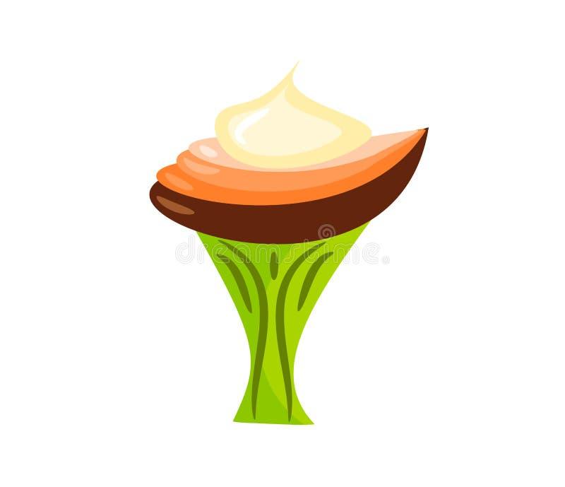 Ilustração deliciosa da sobremesa ilustração royalty free