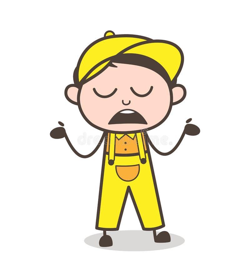 Ilustração desconhecida do vetor do comportamento do menino dos desenhos animados ilustração do vetor
