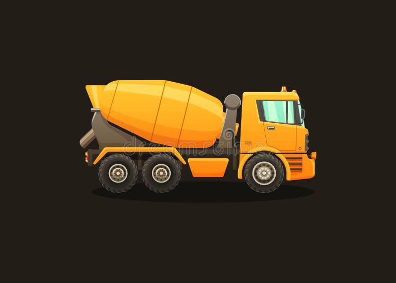 Ilustração detalhada do vetor do misturador concreto ilustração do vetor