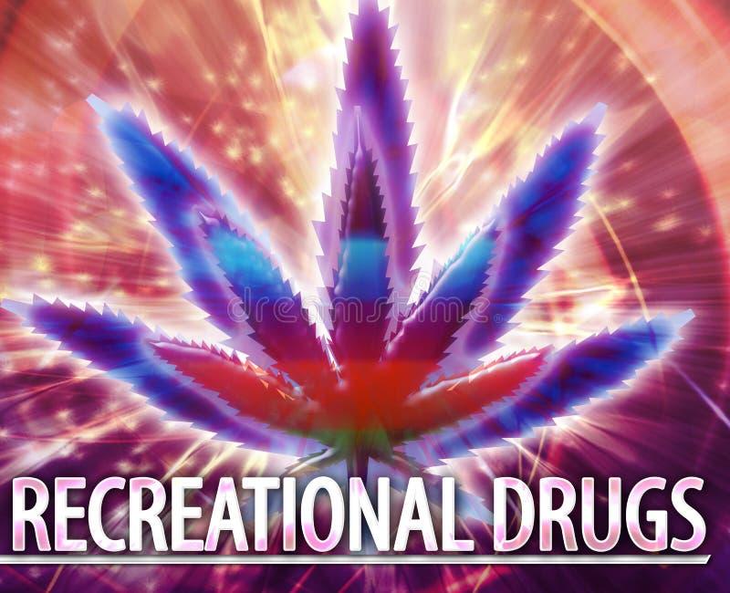 Ilustração digital do conceito abstrato recreacional das drogas ilustração royalty free