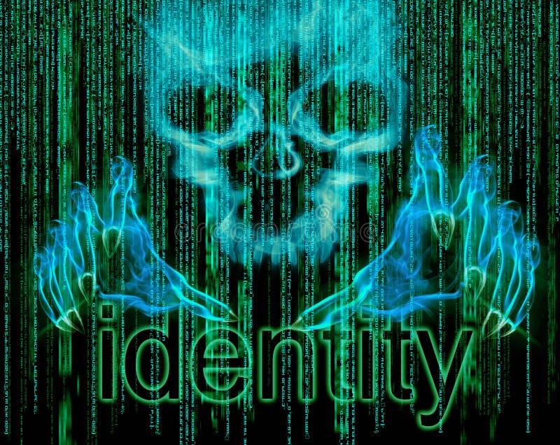 Conceito do roubo de identidade ilustração stock