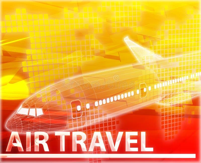 Ilustração digital do conceito do sumário da viagem aérea ilustração royalty free