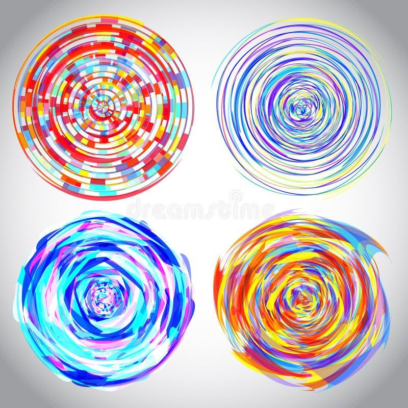 Ilustração dinâmica do fluxo ilustração do vetor