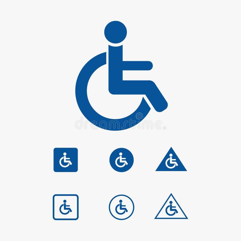 Ilustração do ícone do assento de prioridade para a cadeira de roda imagens de stock