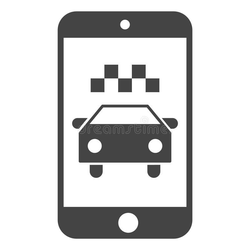 Ilustração do ícone da aplicação de Smartphone do táxi do vetor ilustração do vetor