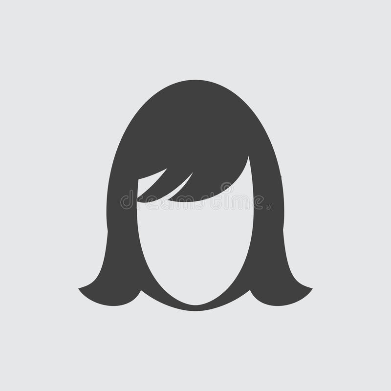 Ilustração do ícone da cara da mulher ilustração royalty free