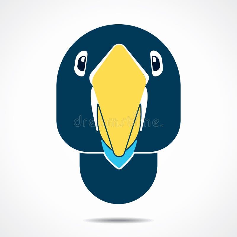 Ilustração do ícone da cara do papagaio ilustração royalty free