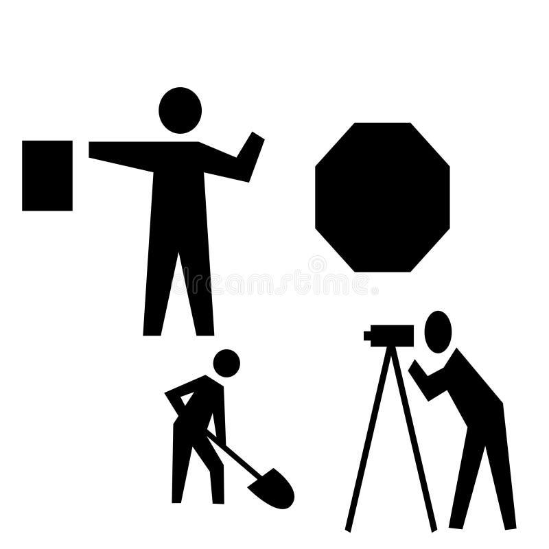 Ilustração do ícone da construção de estradas ilustração royalty free