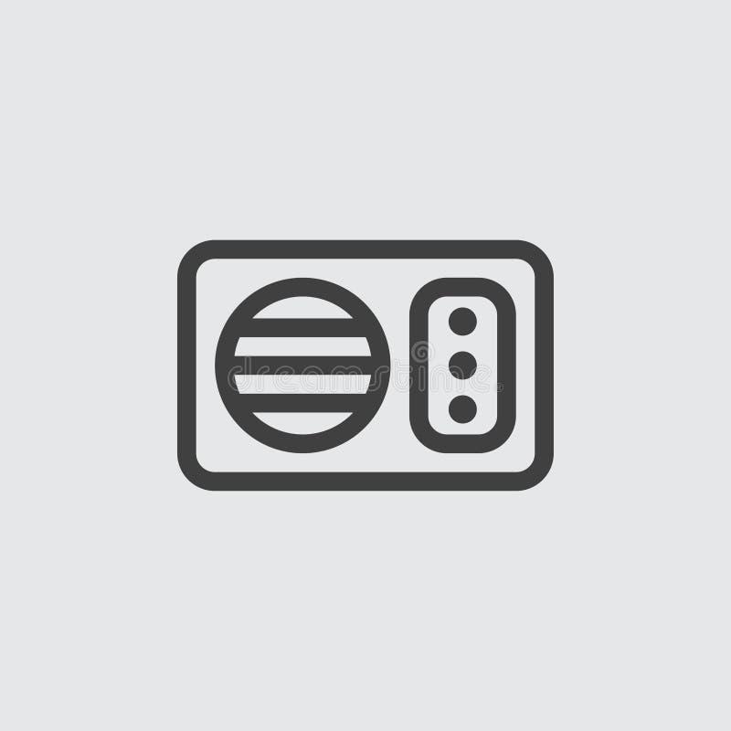 Ilustração do ícone da micro-ondas imagem de stock
