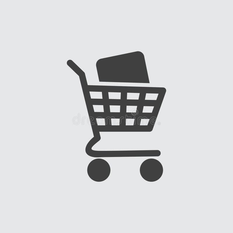 Ilustração do ícone do carrinho de compras imagens de stock