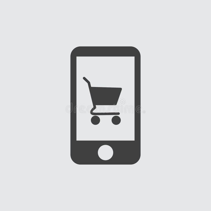 Ilustração do ícone do carrinho de compras ilustração stock