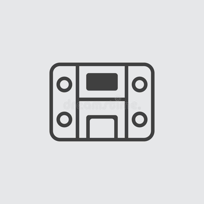 Ilustração do ícone do sistema estereofônico imagens de stock