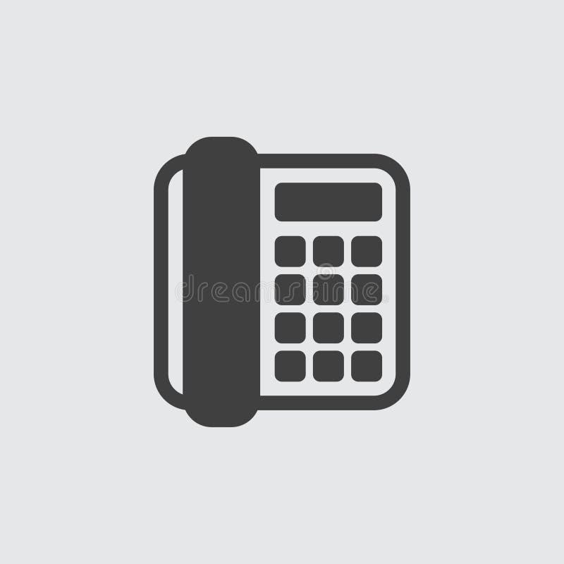 Ilustração do ícone do telefone fotografia de stock royalty free