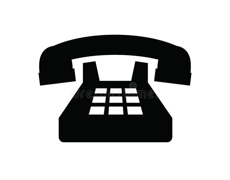 Ilustração do ícone do telefone velho ilustração royalty free