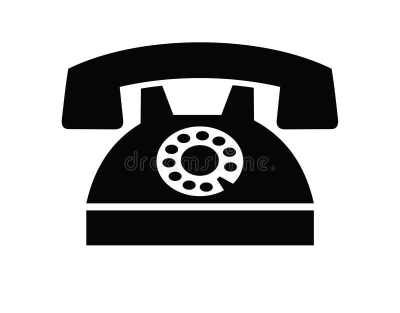 Ilustração do ícone do telefone velho ilustração stock