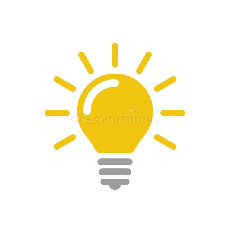 Ilustração do ícone do ícone do vetor da lâmpada ilustração do vetor