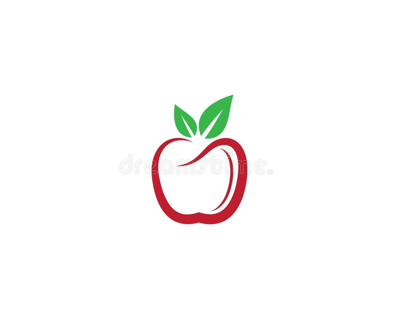 Ilustração do ícone do vetor de Apple ilustração stock
