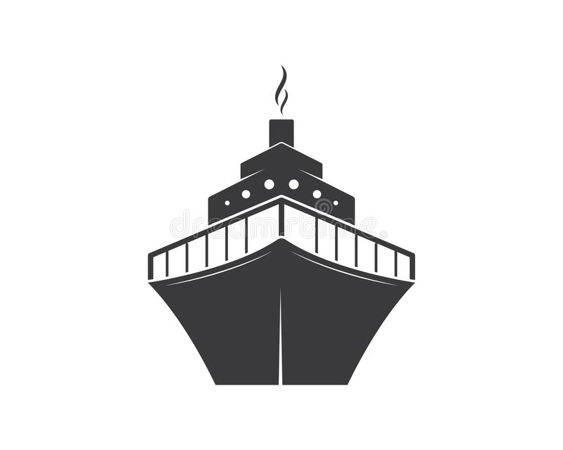ilustração do ícone do vetor de Logo Template do navio de cruzeiros ilustração royalty free