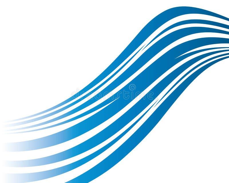 Ilustração do ícone do vetor de onda da água ilustração royalty free
