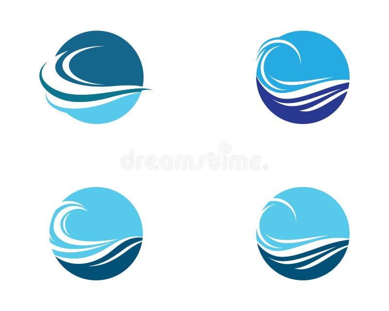 Ilustração do ícone do vetor de onda da água ilustração stock