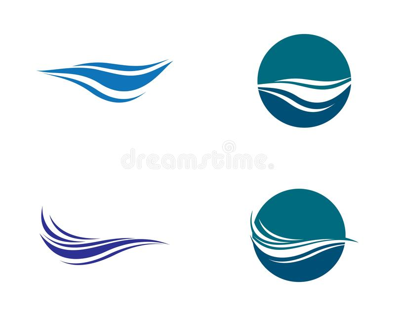 Ilustração do ícone do vetor de onda da água ilustração do vetor