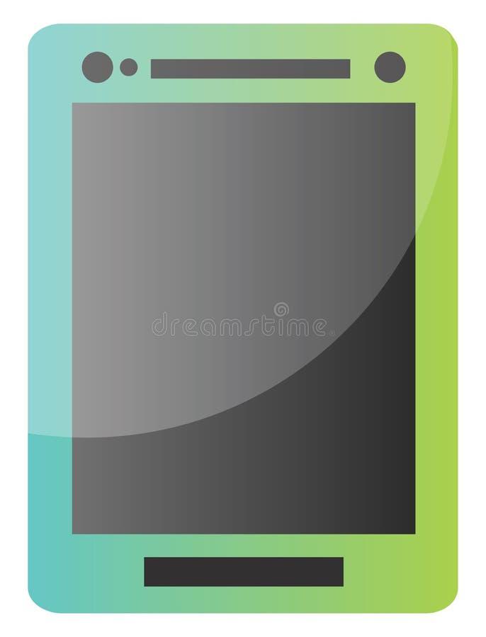 Ilustração do ícone do vetor de tablet azul e verde em um ilustração royalty free
