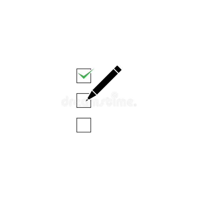 Ilustração do ícone do vetor do lápis da prancheta isolada para o gráfico ilustração royalty free