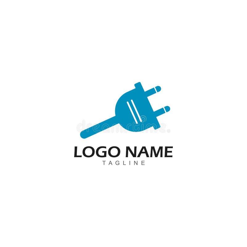 Ilustração do ícone do vetor do logotipo de plugue elétrico ilustração stock