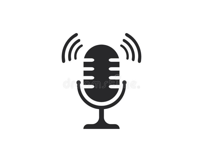 Ilustração do ícone do vetor do microfone ilustração stock