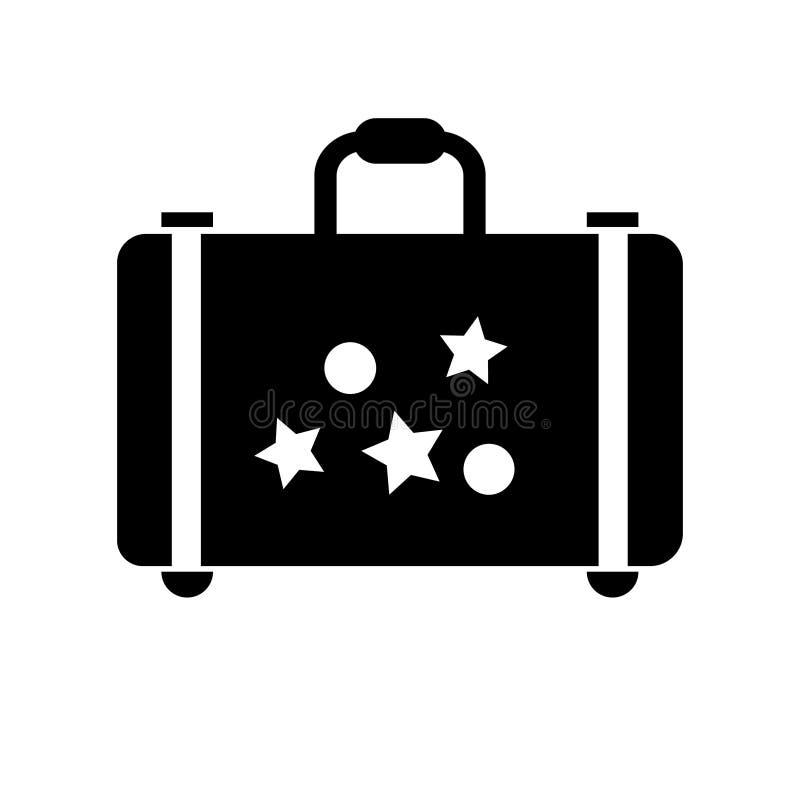 Ilustração do ícone do vetor do saco do curso Vetor da ilustração do curso ilustração do vetor